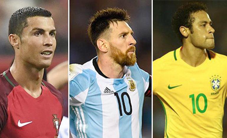 Messi, Ronaldo y Neymar están en Honduras