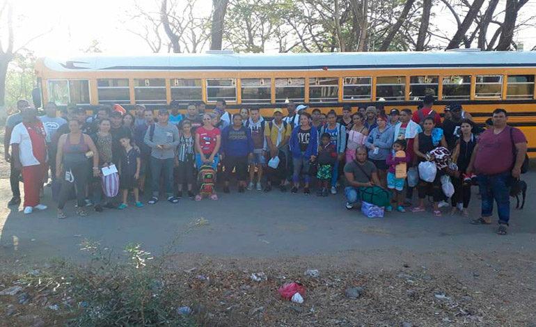 Detienen en Guasaule a 45 inmigrantes de Cuba y 14 de Haití que iban a EE UU