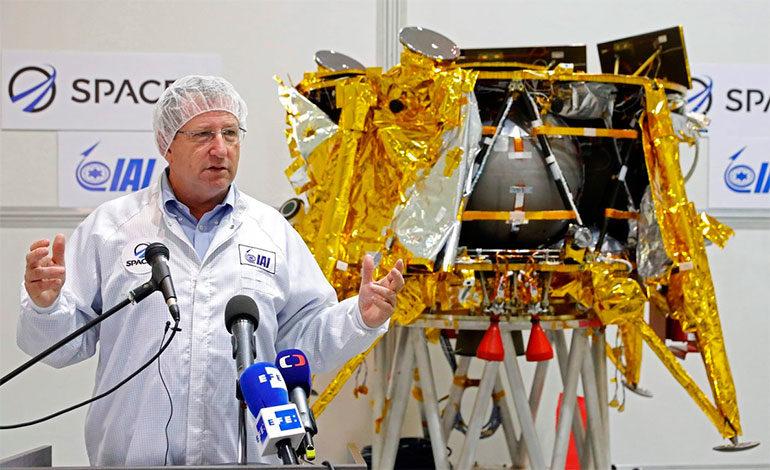 El módulo lunar israelí sufre su primer percance