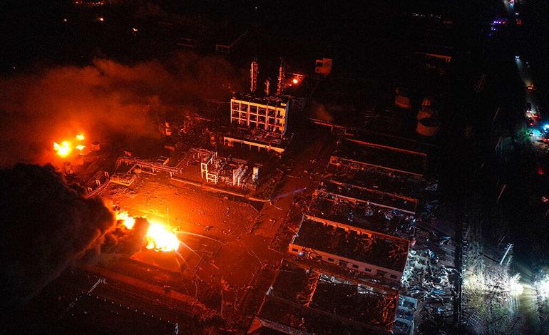 China: explosión en planta química deja 47 muertos