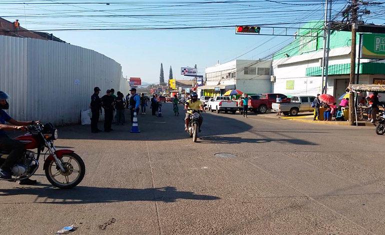 Desalojan vendedores de calles en Catacamas