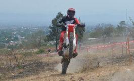 Jordan García ganador de la segunda fecha de moto enduro