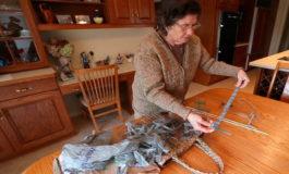 EEUU: Mujer hace traje a partir de bolsas de plástico