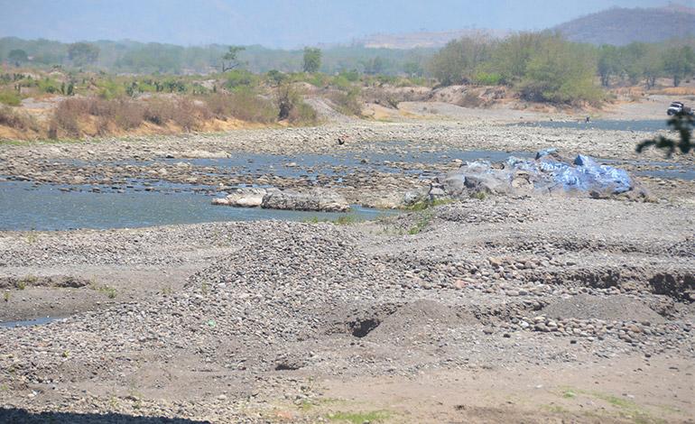 Caudales de ríos Choluteca y Nacaome bajan en 90%