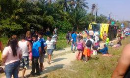 Nueve excursionistas lesionados en accidente