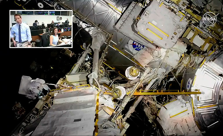 Astronautas de la NASA realizan caminata espacial fuera la ISS