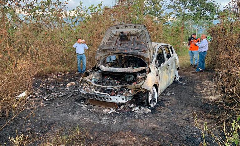 Hallan cuerpo calcinado dentro de camioneta en San Pedro Sula