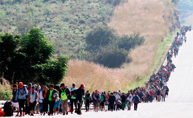 Nueva caravana de migrantes recorre México hacia EEUU