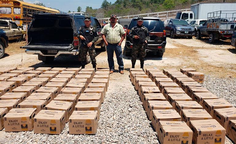 Decomisan contrabando de cervezas en Copán