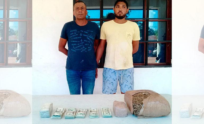 Detienen a colombianos en posesión de droga en Gracias a Dios