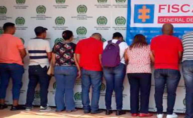 Capturan 10 personas por falsificar incapacidades