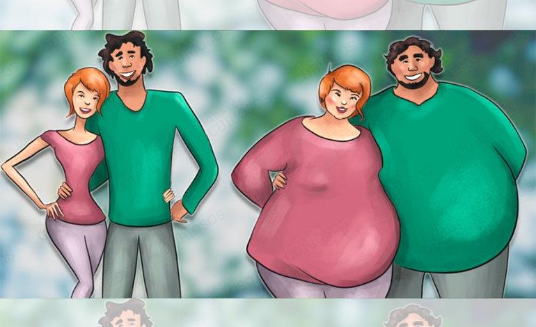 Las parejas que realmente se aman suelen engordar juntas