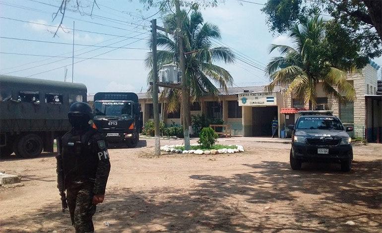 Seis peligrosos reos son trasladados de la granja penal de Comayagua a la PN