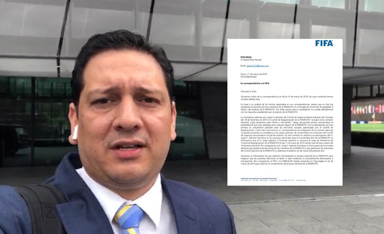 FIFA confirma que Gabriel Rubí no es elegible para presidente de Fenafuth