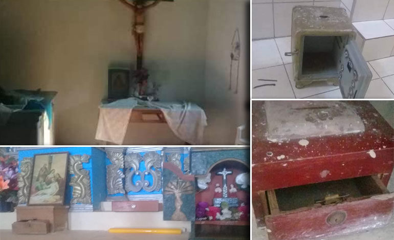 Delincuentes saquean iglesia católica de Camasca, Intibucá