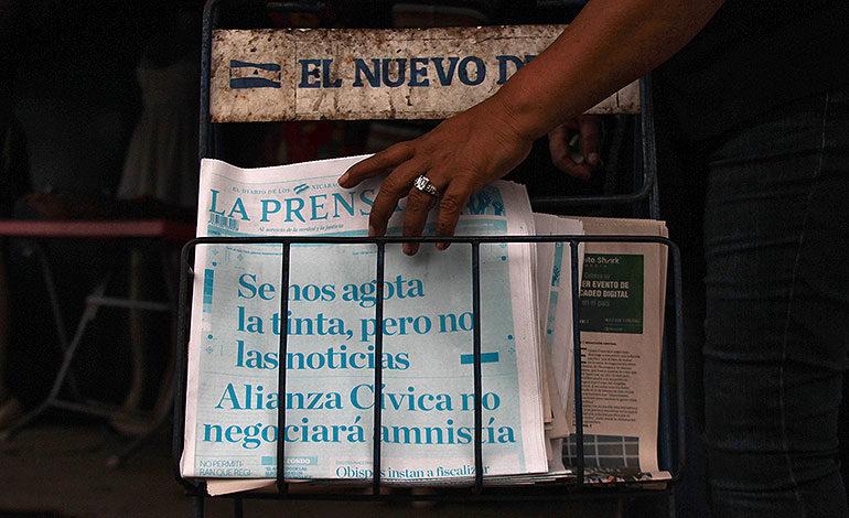 """""""Se nos agota la tinta"""", denuncia diario afectado por bloqueo de gobierno en Nicaragua"""