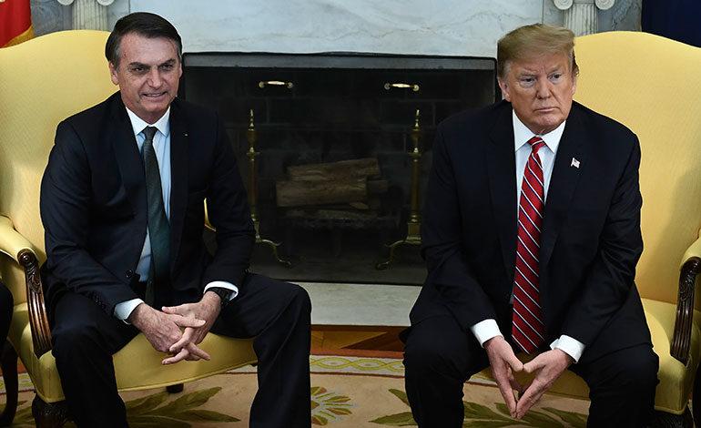 """Brasil y EEUU """"nunca han estado más cerca"""", le dice Trump a Bolsonaro"""