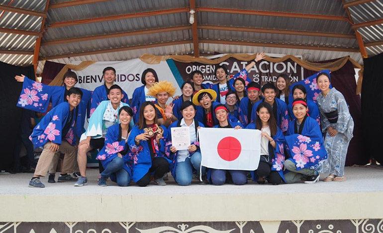 Voluntarios japoneses animan Feria del Café