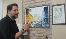 """Tegucigalpa """"desemboca"""" a pinceladas en pinturas de Jacobo Bertrand"""
