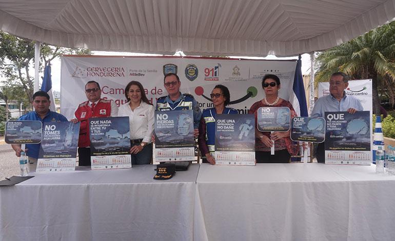Cervecería Hondureña presente en campaña de seguridad vial 2019