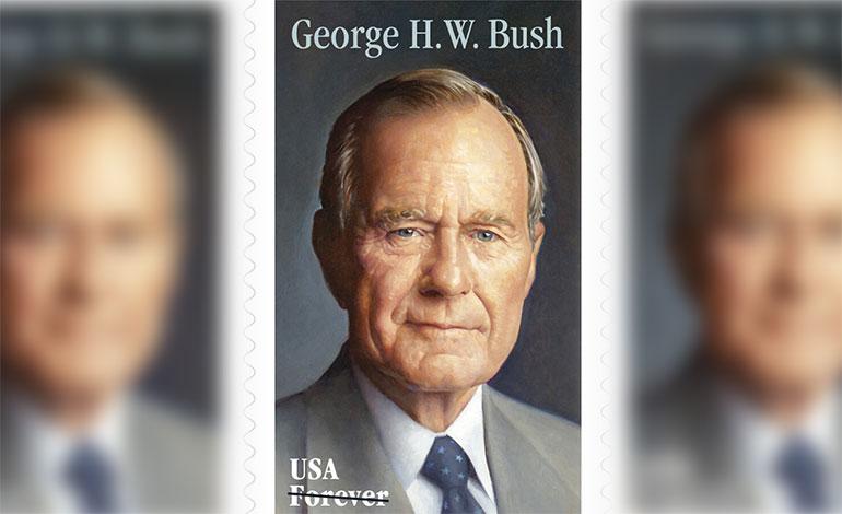 Servicio Postal de EEUU emitirá timbre en honor a Bush padre