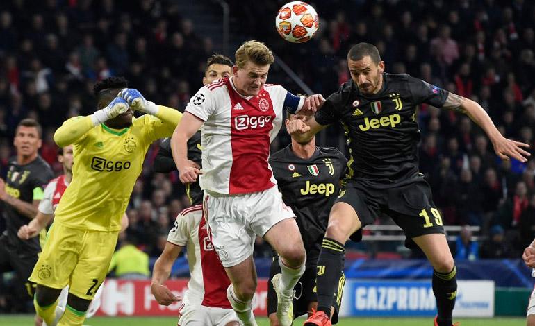 Juventus saca de Amsterdam un empate en la ida de cuartos