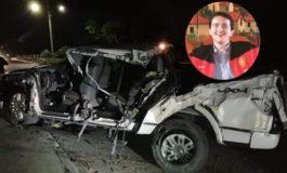 Muere en accidente vial hijo de reconocido chef en San Pedro Sula