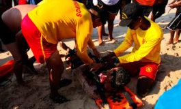 Vivos ocho bañistas rescatados en playas