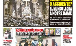 ACRIBILLADOS CINCO PARIENTES DE LUCIO RIVERA