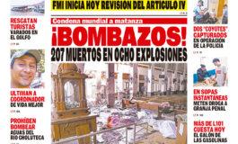 ¡BOMBAZOS! 207 MUERTOS EN OCHO EXPLOSIONES