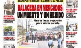 BALACERA EN MERCADOS: UN MUERTO Y UN HERIDO