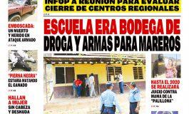 ESCUELA ERA BODEGA DE DROGA Y ARMAS PARA MAREROS