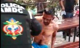 Policía Municipal auxilia a herido en la peatonal