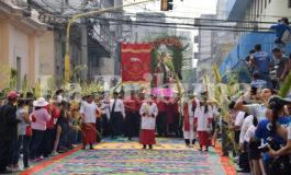 Así fue la majestuosa alfombra del Domingo de Ramos en Tegucigalpa