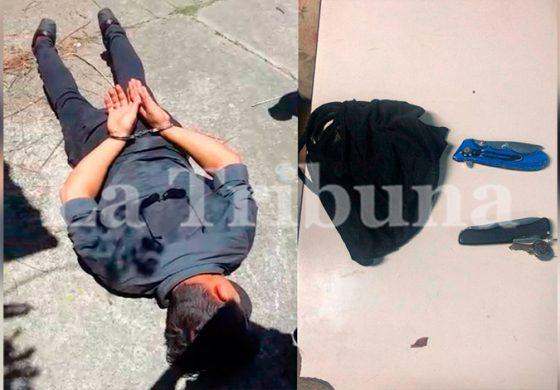 Capturan a hombre cuando pretendía asaltar sucursal bancaria en Atlántida (Video)