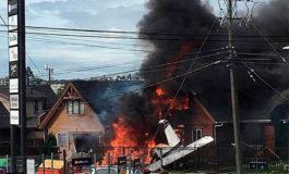 Seis muertos tras caer una avioneta sobre una casa en Chile (Video)