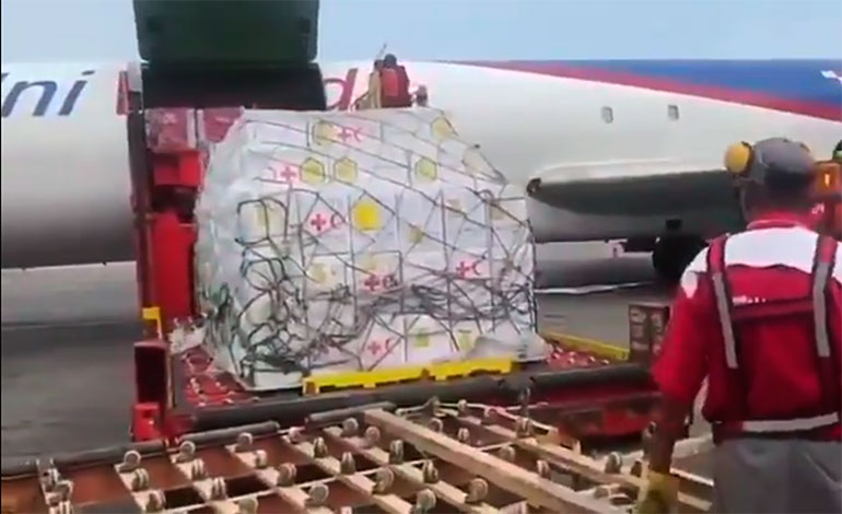Venezuela recibió primer envío de ayuda humanitaria de la Cruz Roja