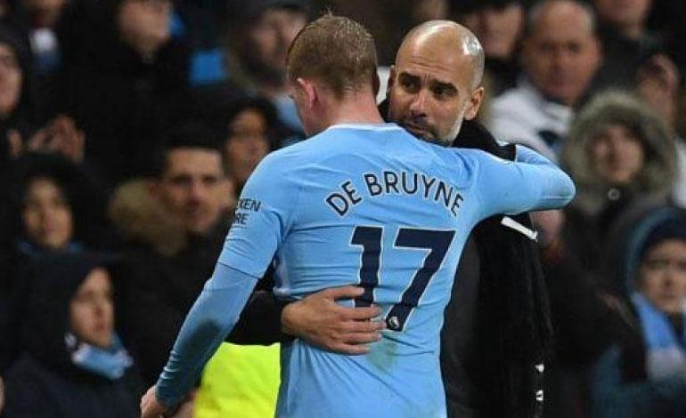 """""""Casi imposible"""", dice De Bruyne sobre el póquer de títulos para el City"""