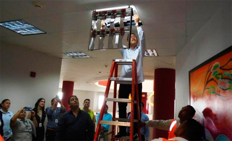 JICA y ENEE entregan iluminarias al Hospital María