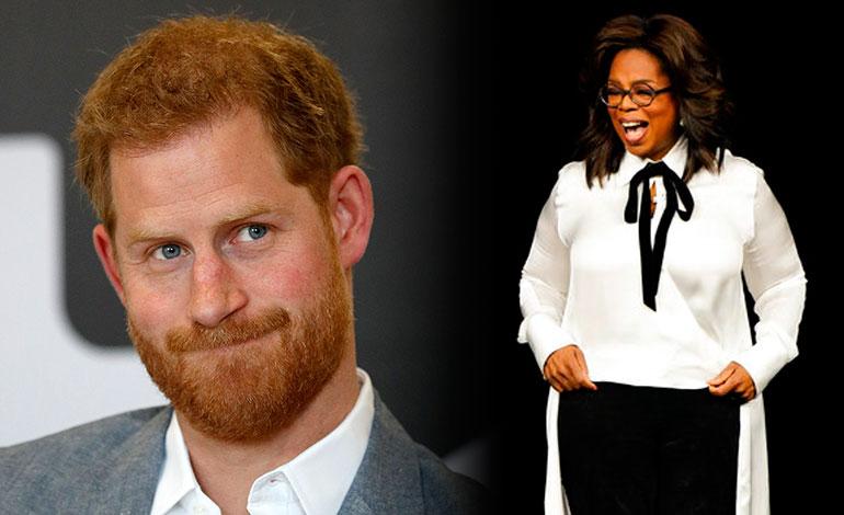 El príncipe Enrique y Oprah Winfrey crean una serie sobre salud mental