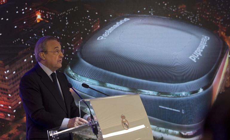 """Florentino Pérez: """"El nuevo Bernabéu será el mejor estadio del mundo"""""""