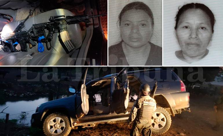 Capturan a dos guatemaltecas con armas en Copán