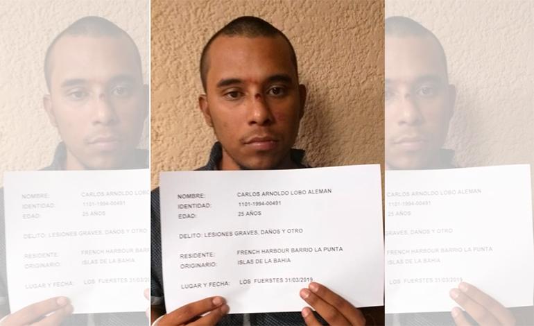"""Capturan a hijo del """"Negro Lobo"""" en posesión de drogas en Roatán"""