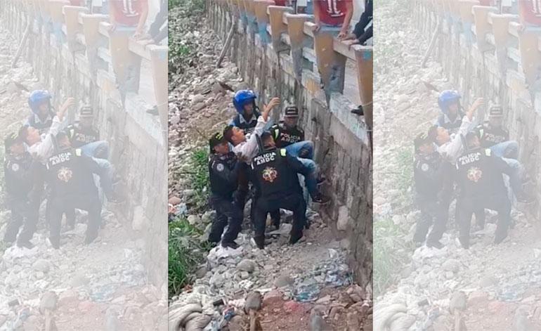 Supuesto asaltante tiroteado en el puente Soberanía se escapa del HEU (Video)