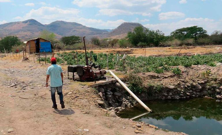 Ediles de Marcovia prohíben extracción de agua del río Choluteca