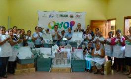 Micro empresarias reciben donación de JICA en Cantarranas