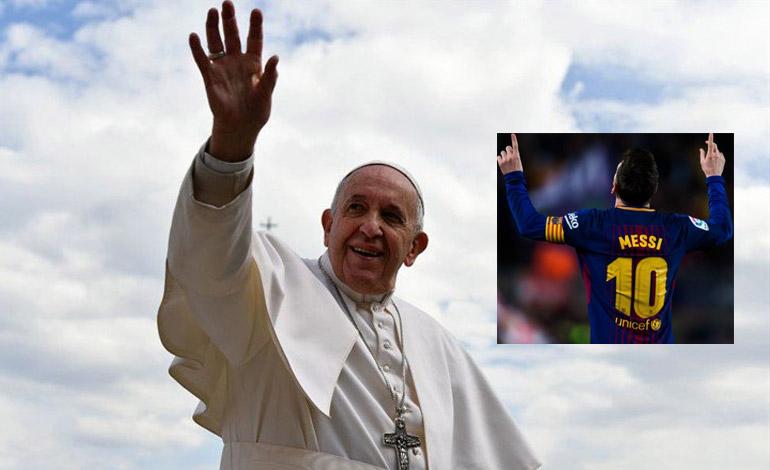 """Papa Francisco: """"Da gusto ver a Messi, pero no debe ser llamado Dios"""""""