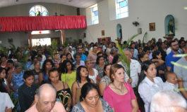 Fieles de Siguatepeque dan la bienvenida a Semana Santa