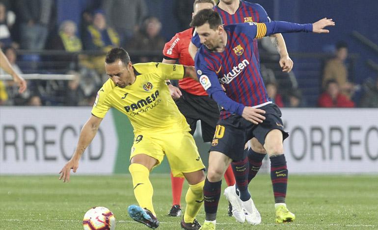 Barcelona evitó en el descuento la remontada del Villarreal