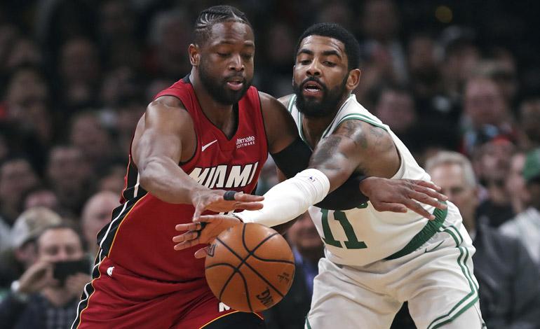 Celtics vencen a Miami y le arruinan la última visita de Wade a Boston